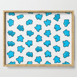Meeple Mania Icy Blue Serving Tray