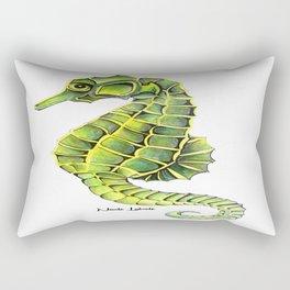 Sea Horse Green Yellow Sea Life Ocean Underwater Creature Rectangular Pillow