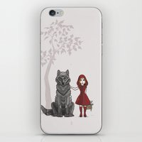 red hood iPhone & iPod Skins featuring Red Hood by MonsterBot