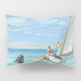 Ground Swell OIl Painting by Edward Hopper Pillow Sham