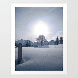 SNOWFALL AT HASLIBERG Art Print