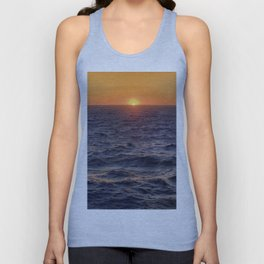 High Sea Windy Storm At Sunset Unisex Tank Top