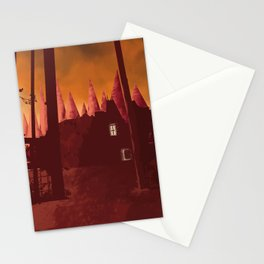 Digital painting art, castle at dawn poster Stationery Cards