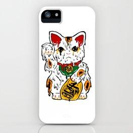 Melting Maneki Neko Lucky Cat iPhone Case