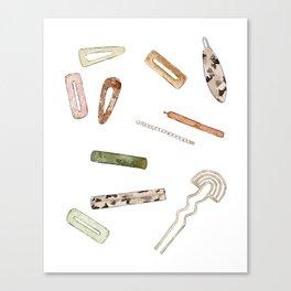 Hairclips Canvas Print