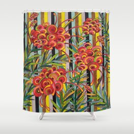 Grevillea Fireworks Shower Curtain