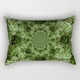 SEA FOAM FROTHY BLUE-GREEN SUCCULENTS Rectangular Pillow