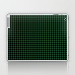Mini Forest Green and Black Rustic Cowboy Cabin Buffalo Check Laptop & iPad Skin