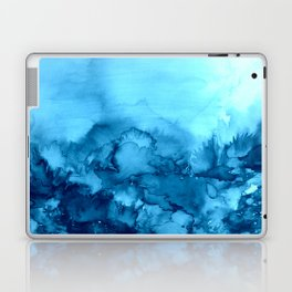 INTO ETERNITY, TURQUOISE Colorful Aqua Blue Watercolor Painting Abstract Art Floral Landscape Nature Laptop & iPad Skin