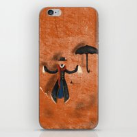 mary poppins iPhone & iPod Skins featuring Mary Poppins by fedralita