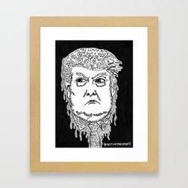 @realDonaldTrump Framed Art Print