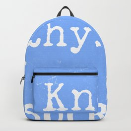 Know thyself. Socrates quote 3 Backpack