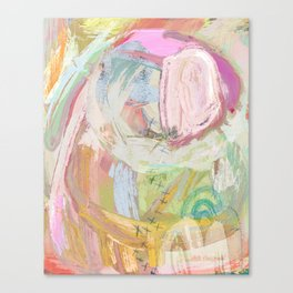 Shapes and Layers no.31 - Abstract paintings with texture Canvas Print