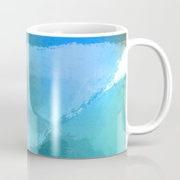 Blue Beach Abstract Watercolor Coffee Mug