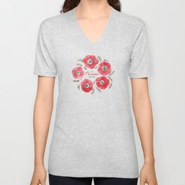 Poppy Passion: I See Passion In Your Work Unisex V-Neck