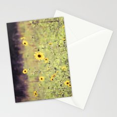 Sunny Meadow -- Yellow Wildflowers Botanical Landscape Stationery Cards