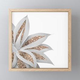 Agave Finesse Glitter Glam #9 #tropical #decor #art #society6 Framed Mini Art Print