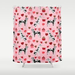 Great Dane harlequin coat dog breed gifts pet patterns for pure breed lovers Shower Curtain
