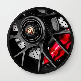 911 Porsch Wheel Wall Clock