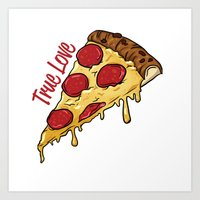 pizza Art Prints featuring Pizza by jeff'walker