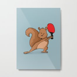 Talented Squirrel Metal Print
