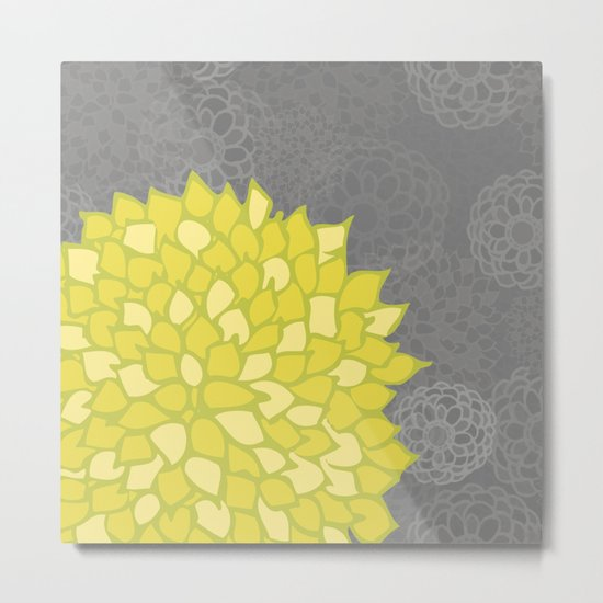 Spring colorful peonies yellow #5 Metal Print