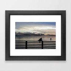 Dock on the Pitt River Framed Art Print