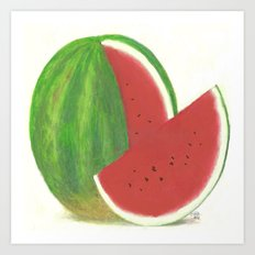 Big Fat Babydoll Watermelon Art Print