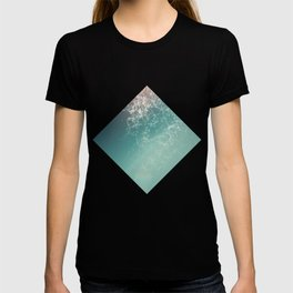 Fresh summer abstract background. Connecting dots, lens flare T-shirt