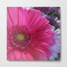 Floral Bouquet Pink And Purple Metal Print