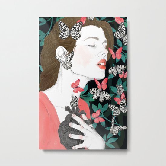 Butterflies // you make my heart flutter Metal Print