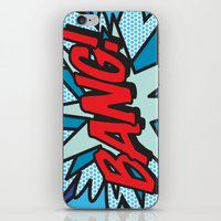 comic book iPhone & iPod Skins featuring Comic Book BANG! by The Image Zone