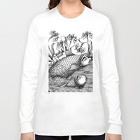 jazzberry Long Sleeve T-shirts featuring The Golden Fish (1) by Judith Clay
