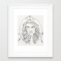 allison argent Framed Art Prints featuring Allison by Wolfhearted