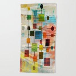 Mid-Century Modern Art 1.3 -  Graffiti Style Beach Towel