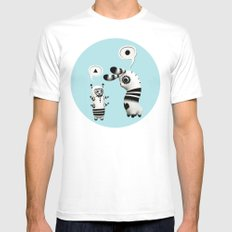 Lally Lama White Mens Fitted Tee MEDIUM
