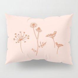 Wildflower Line Art Pillow Sham