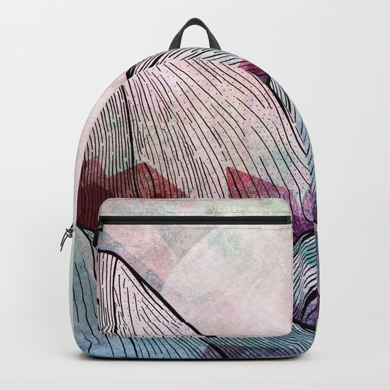 A cold summer morning Backpack