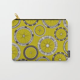 bike wheels chartreuse Carry-All Pouch