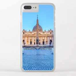 St. Peter's Square in Vatican City - Rome, Italy Clear iPhone Case