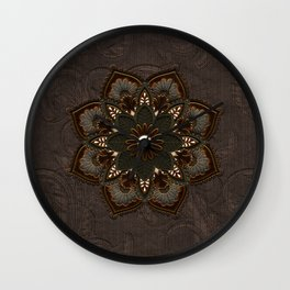Steampunk, beautiful mandala Wall Clock