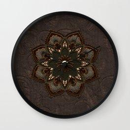 Steampunk, beautiful mandala Wall Clock