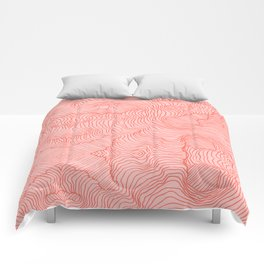 Living Coral Lines Comforters