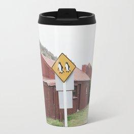 Penguins Crossing Travel Mug