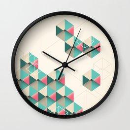 Empty cubes Wall Clock