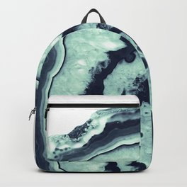 Navy Blue Mint Agate #1 #gem #decor #art #society6 Backpack