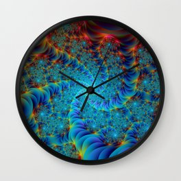 Root of all Spirals in Color Wall Clock