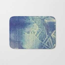 Abstraction in Blue Bath Mat