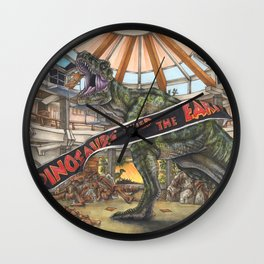 When Dinosaurs Ruled the Earth - Jurassic Park T-Rex Wall Clock