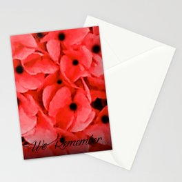 Veterans | Memorial Day | Remembrance Day | We Remember | Red Poppies | Nadia Bonello Stationery Cards
